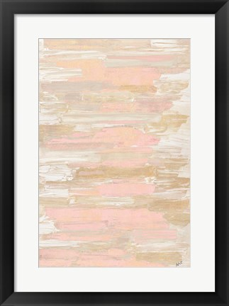 Framed Blush Rhizome Print