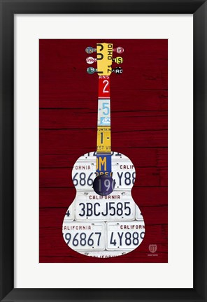 Framed Guitar 1 Print