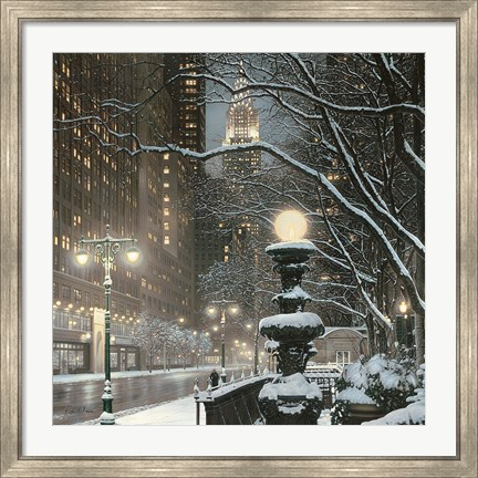 Framed City Lights NYC Print