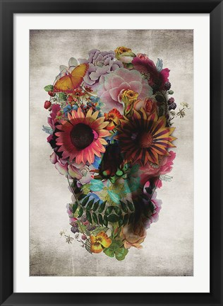 Framed Flower Skull Print