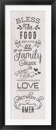 Framed Food, Family, Love Print