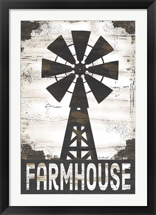 Framed Farmhouse Windmill Print