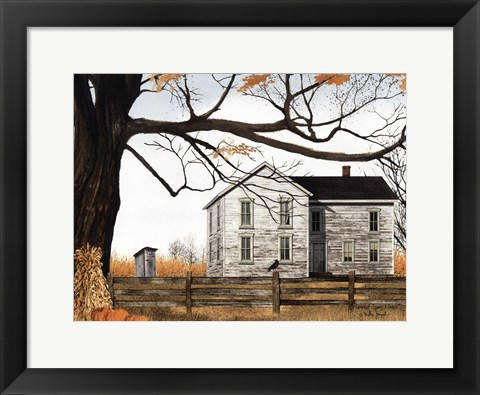 Framed Harvest Time House Print