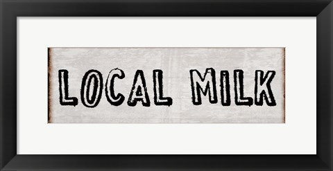Framed Fresh Local Milk And Eggs Print