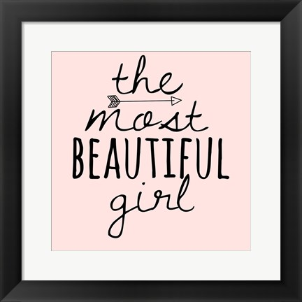 Framed Beautiful Girl Print