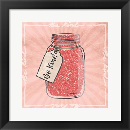 Framed Jar Of Kindness Print