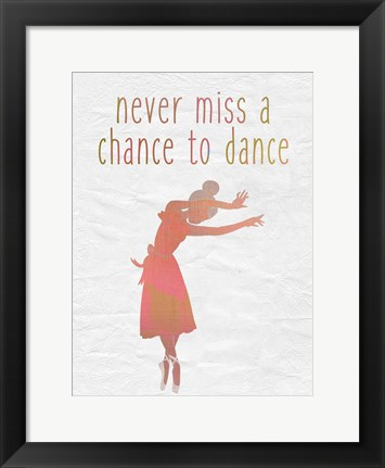 Framed Dance B Print