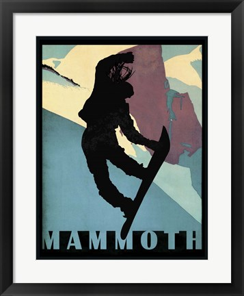 Framed Mammoth Mountain Winter Sports I Print