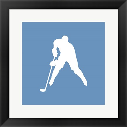 Framed Hockey Player Silhouette - Part III Print