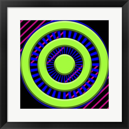 Framed Black Light Pattern 2 Print