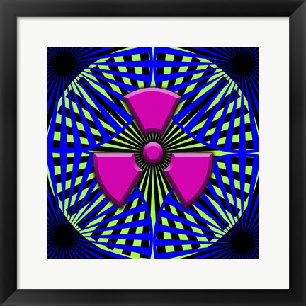 Framed Black Light Pattern Print