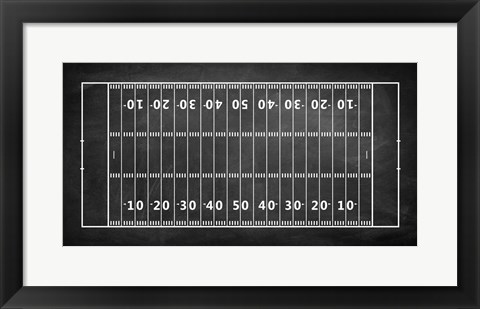 Framed American Football Field Chalkboard Print