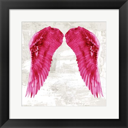 Framed Angel Wings III Print