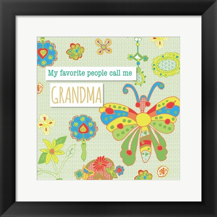 Framed Favorite People Grandma Print