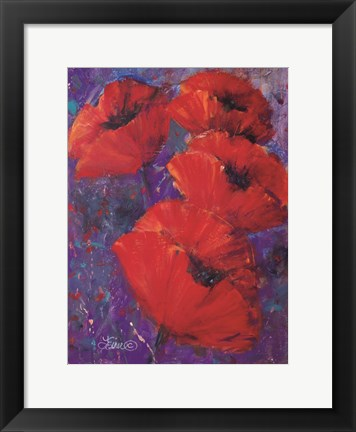 Framed Pop of Poppies Print