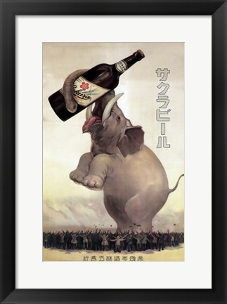 Framed Elephant Beer Print