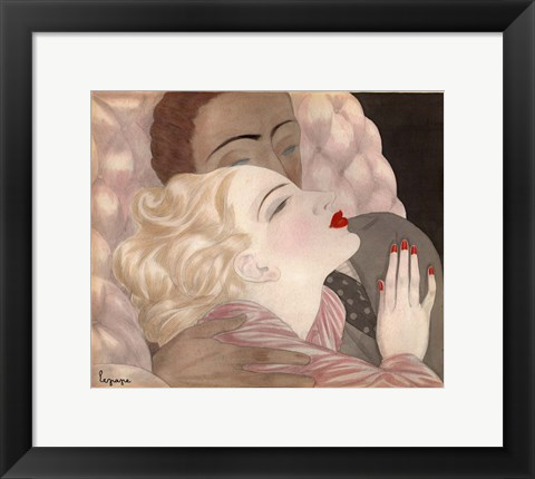 Framed Love By Le Pape Print