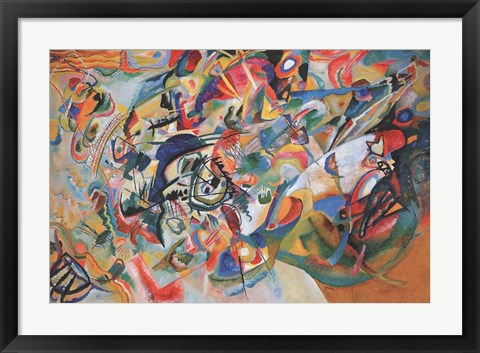 Framed Composition VII 1913 Print