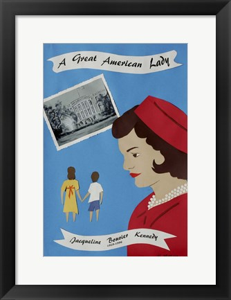 Framed Great American Lady Print
