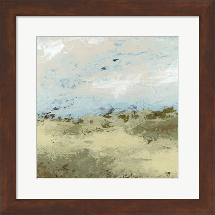 Framed Green Fields II Print