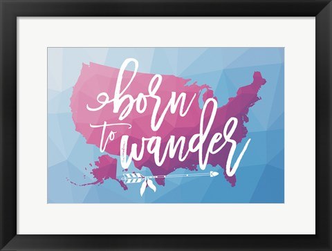 Framed Geo Map Boho II Print