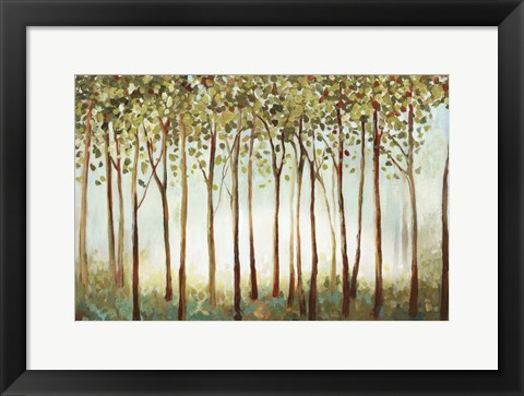 Framed Riverside Forest Print