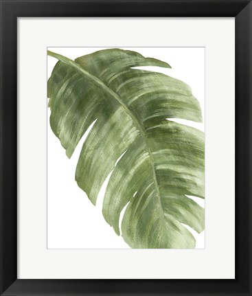 Framed Palm Green II Print