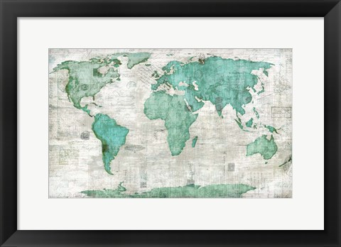 Framed World Print