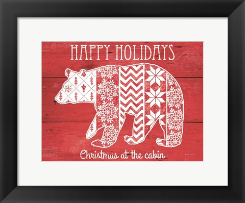 Framed Nordic Holiday II Print