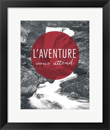 Framed Adventure is Out There Red French Print
