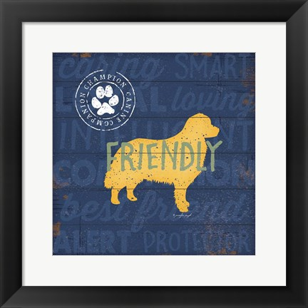Framed Friendly Dog Print