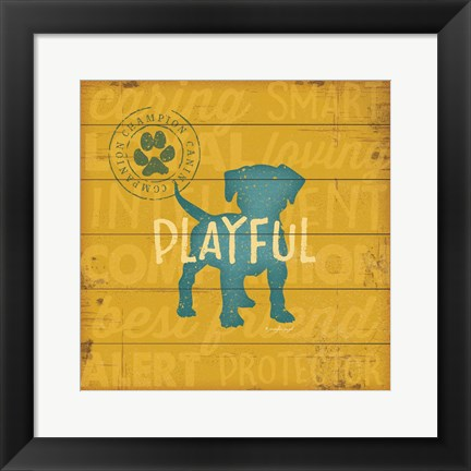 Framed Playful Dog Print