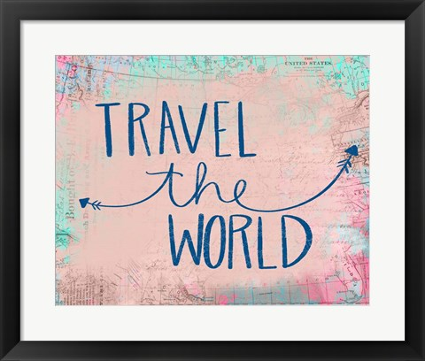 Framed Travel the World Print