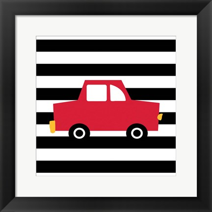 Framed Red Car Print