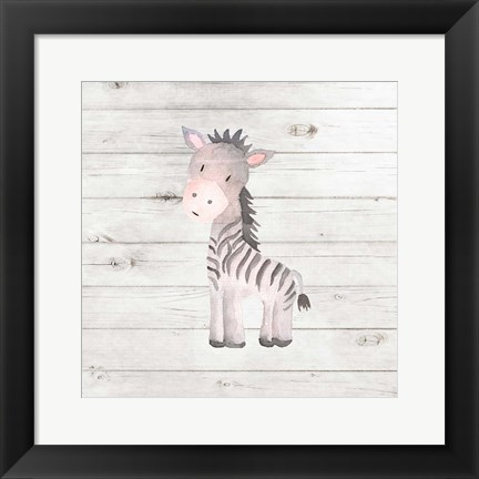 Framed Watercolor Zebra Print