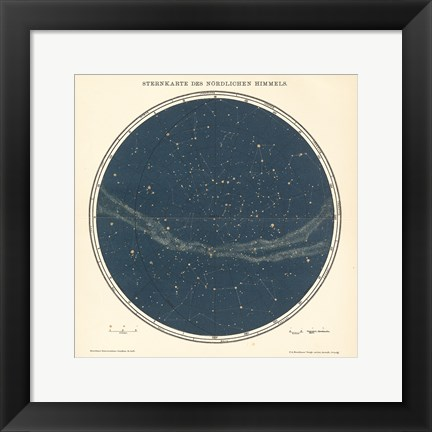 Framed Celestial Sphere North Print