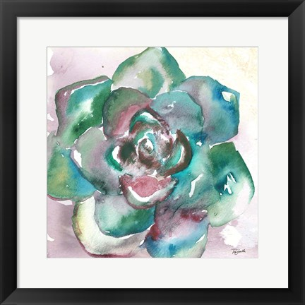 Framed Succulent Watercolor IV Print