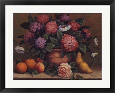 Framed Traditional Floral II Print