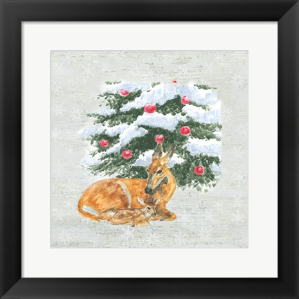 Framed Christmas Critters VII Print
