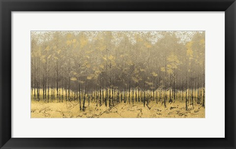 Framed Golden Trees III Taupe Print