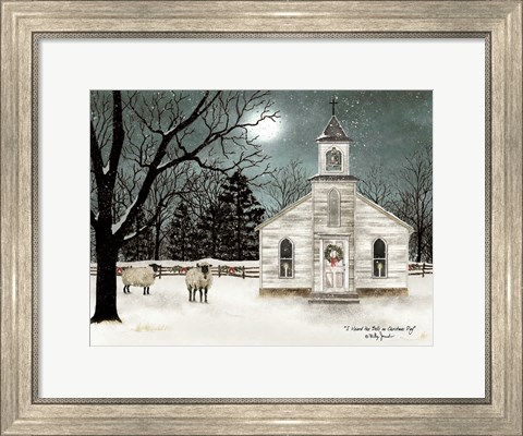 Framed I Heard the Bells on Christmas Day  - Darker Sky Print