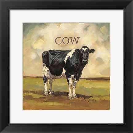 Framed Colby the Cow Print