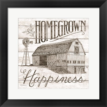 Framed Homegrown Happiness Print