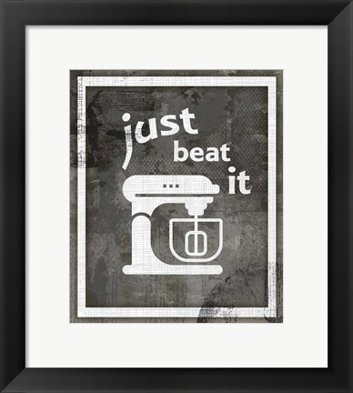 Framed Farm Sign Beat it Print