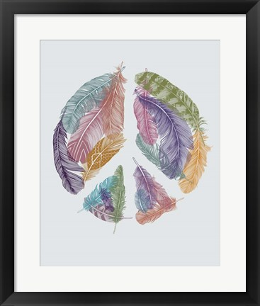 Framed Feathers For Peace Print