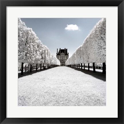 Framed White Alley of the Louvre Print