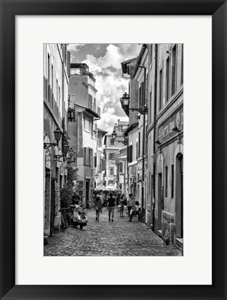 Framed Historic street of Rome Print