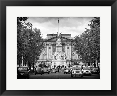 Framed Buckingham Palace and Black Cabs - London Print