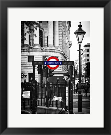 Framed London Underground Sign Print