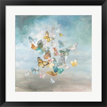 Framed Beautiful Butterflies Print